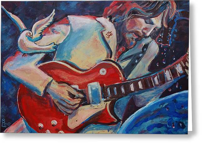 'gently Weeps' Greeting Card by Shannon Lee