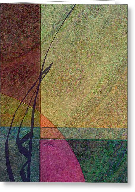 Abstract Earth Tones Greeting Cards - Geo Greeting Card by Gordon Beck
