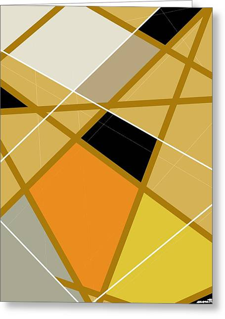 Geometrical Art Greeting Cards - Geometric abstract 1 Greeting Card by Patric Mouth