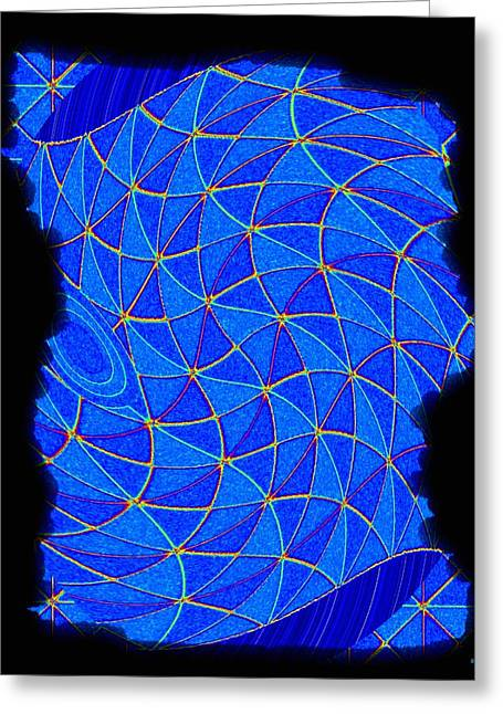 Geometric Art Greeting Cards - Geometric Abstract 2 Greeting Card by Will Borden