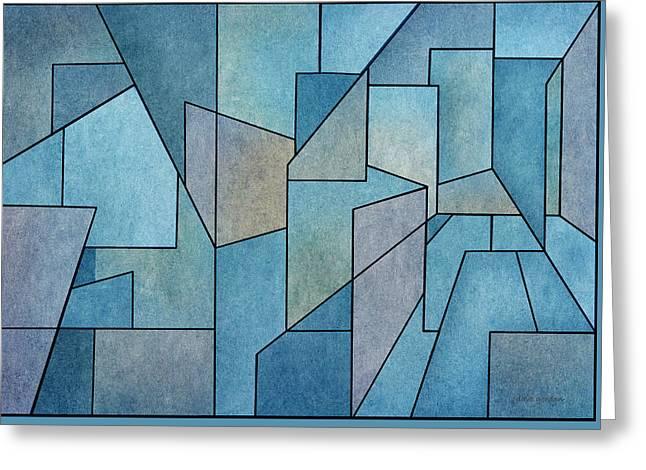 Geometric Abstraction IIi Greeting Card by David Gordon