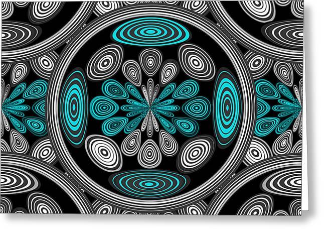 Geometric Arabesque Greeting Card by Gaspar Avila