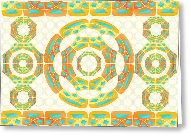 Geometric Composition Greeting Card by Gaspar Avila
