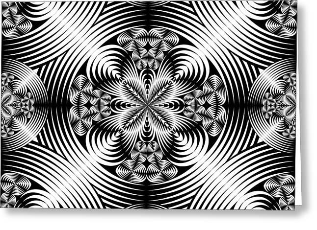 Geometric Damask Greeting Card by Gaspar Avila