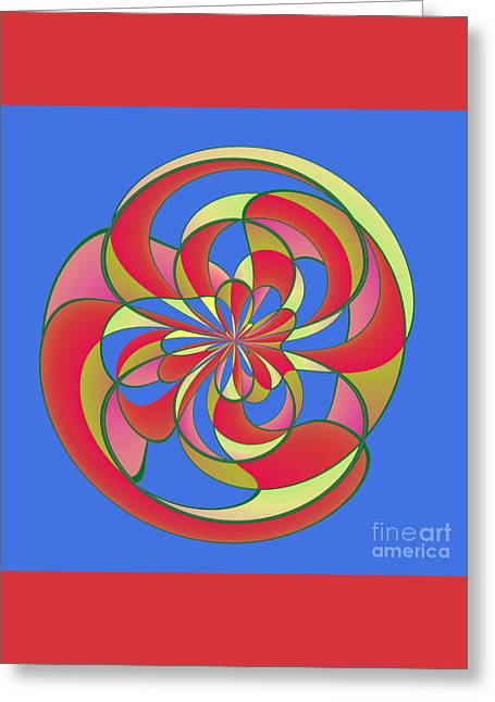 Algorithmic Abstract Greeting Cards - Geometric distortion Greeting Card by Gaspar Avila