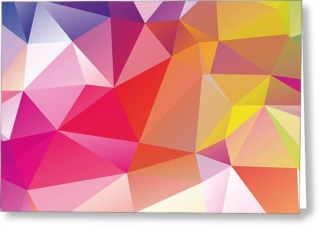 Matt Greeting Cards - Geometric Greeting Card by Matt