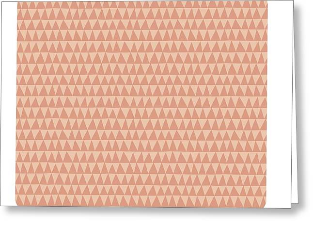 Limited Colors Greeting Cards - Geometric Triangle Pattern Greeting Card by Gillham Studios