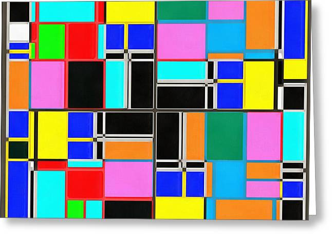 Rectangles Greeting Cards - Geometrics  Greeting Card by Edward Fielding