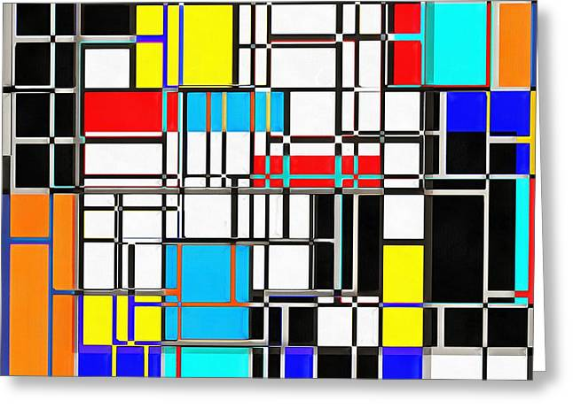 Rectangles Greeting Cards - Geometrix Greeting Card by Edward Fielding