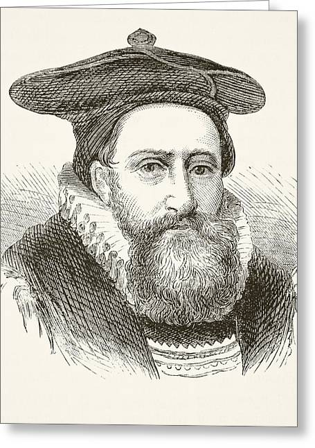 Archbishop Greeting Cards - George Abbot 1562 To 1633. Archbishop Greeting Card by Ken Welsh