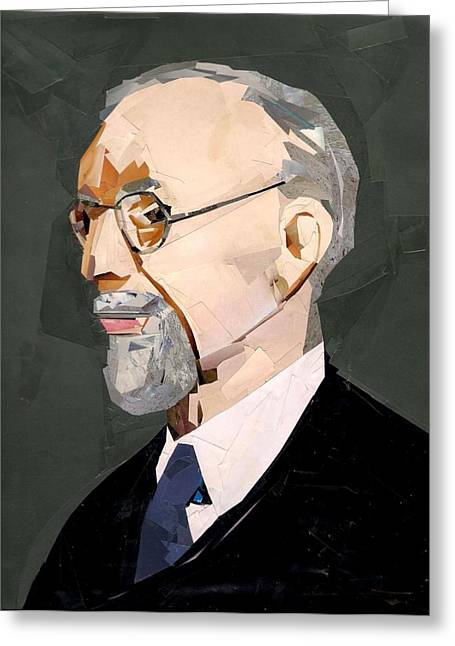 New Britain Mixed Media Greeting Cards - George Albert Smith Greeting Card by Paul Frederick Bush