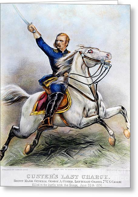 1876 Greeting Cards - George Armstrong Custer Greeting Card by Granger