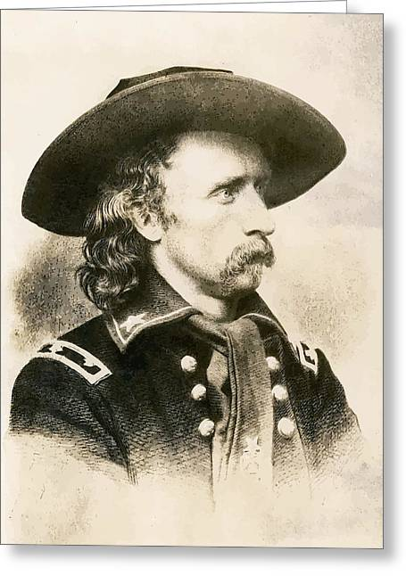 Us Civil War Greeting Cards - George Armstrong Custer  Greeting Card by War Is Hell Store