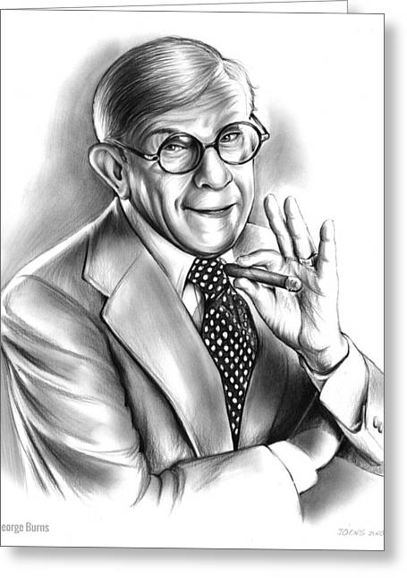 George Burns Greeting Card by Greg Joens