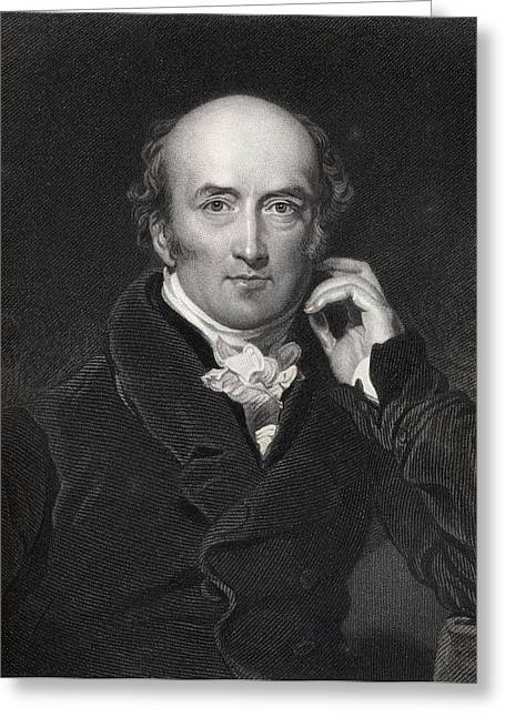 British Prime Minister Greeting Cards - George Canning 1770 To 1827 British Greeting Card by Ken Welsh