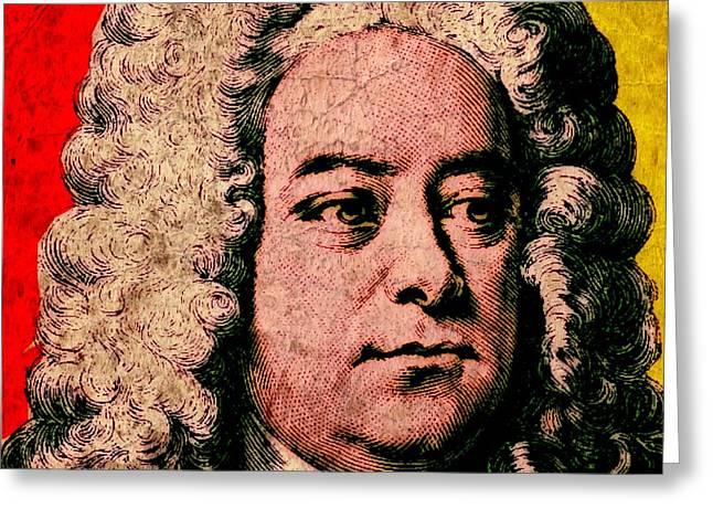George Friedrich Handel Colour Greeting Card by Otis Porritt
