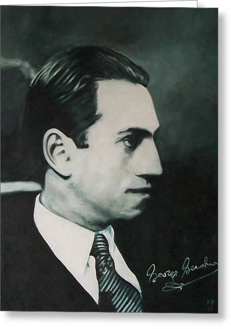 Gershwin Greeting Cards - George Gershwin 1920s Greeting Card by Kevin Hopkins