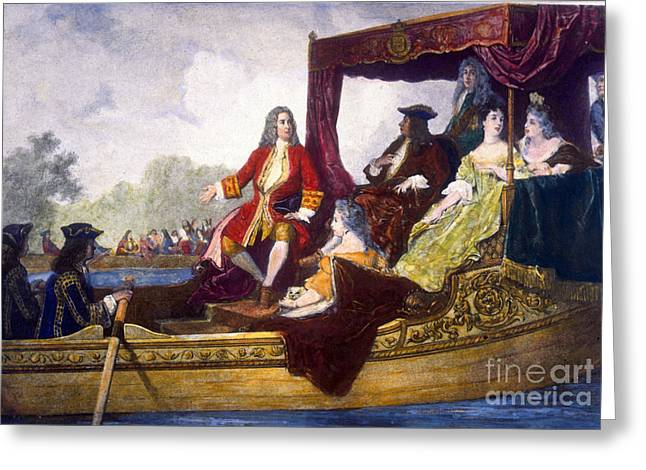 George Handel And King George I Greeting Card by Science Source
