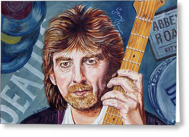 George Harrison Greeting Card by Graham Swan