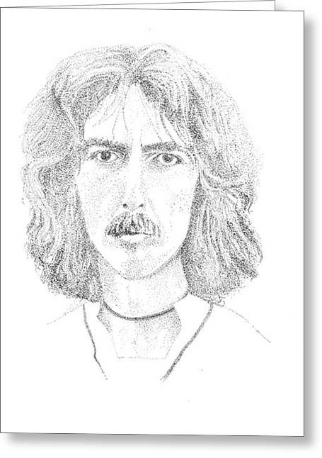 George Harrison Greeting Card by Terry Adamick