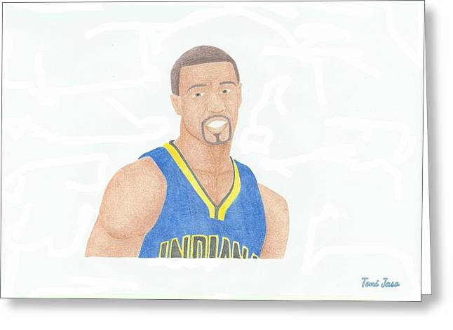 Mvp Drawings Greeting Cards - George Hill Greeting Card by Toni Jaso