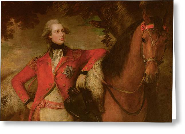 Chestnut Horse Greeting Cards - George IV as Prince of Wales Greeting Card by Thomas Gainsborough