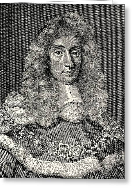 Chief Justice Drawings Greeting Cards - George Jeffreys, 1st Baron Of Wem Aka Greeting Card by Vintage Design Pics