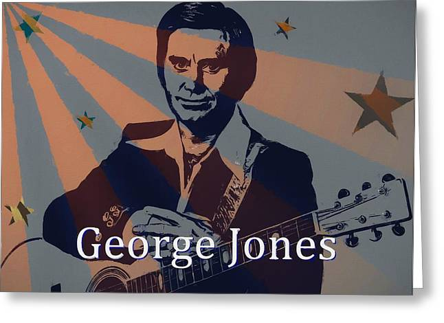 George Jones Poster Greeting Card by Dan Sproul