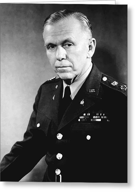 Points Greeting Cards - George Marshall Greeting Card by War Is Hell Store