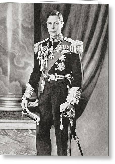 British Royalty Greeting Cards - George Vi, 1895 Greeting Card by Vintage Design Pics