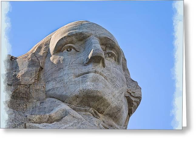 Usa Photographs Greeting Cards - George Washington 2 Greeting Card by John Bailey