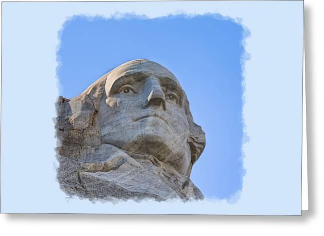 Apparel Greeting Cards - George Washington 3 Greeting Card by John Bailey