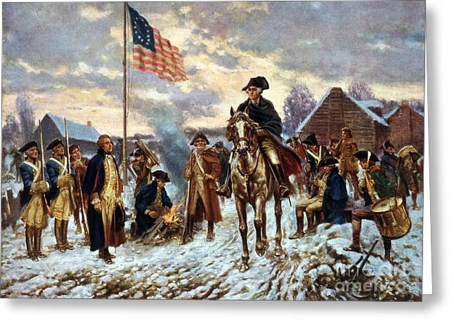 George Washington At Valley Forge Greeting Card by Science Source