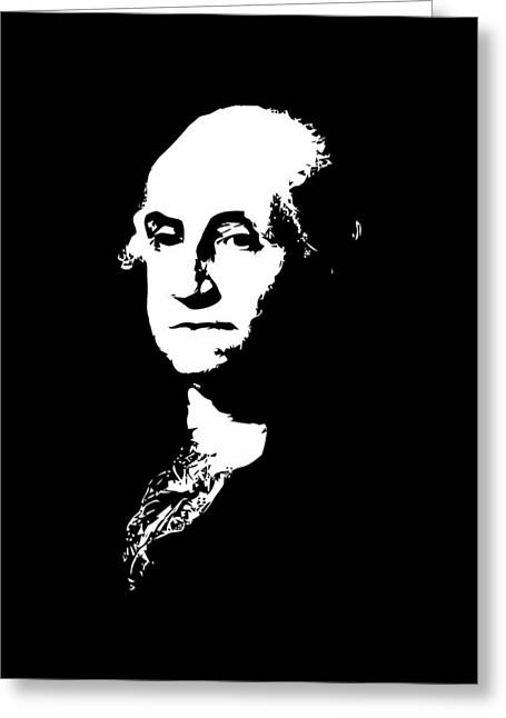 George Washington Greeting Cards - George Washington Black and White Greeting Card by War Is Hell Store