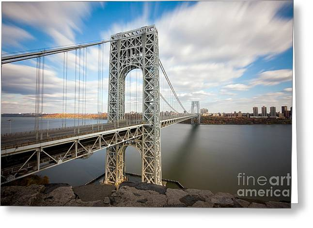 Bridges Greeting Cards - George Washington Bridge Greeting Card by Greg Gard