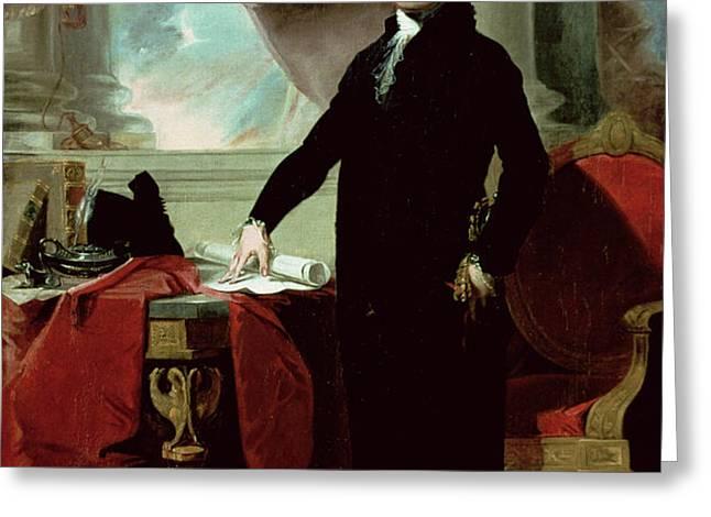George Washington Greeting Card by Gilbert Stuart