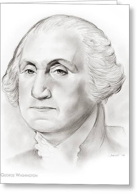 George Washington Greeting Card by Greg Joens