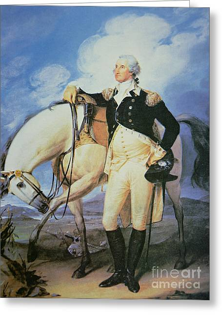 Officers Greeting Cards - George Washington Greeting Card by John Trumbull