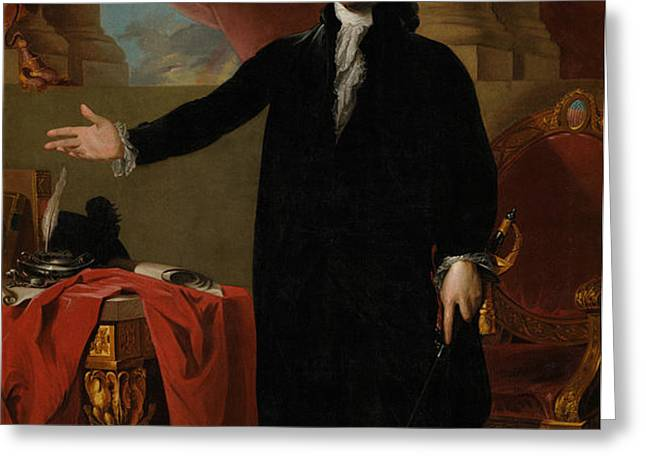 George Washington Lansdowne Portrait Greeting Card by War Is Hell Store