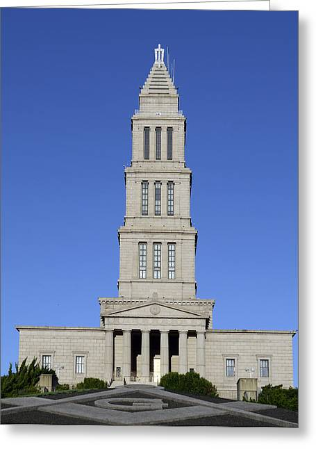Alexandria Virginia Greeting Cards - George Washington Masonic Temple National Memorial in Alexandria Virginia Greeting Card by Brendan Reals