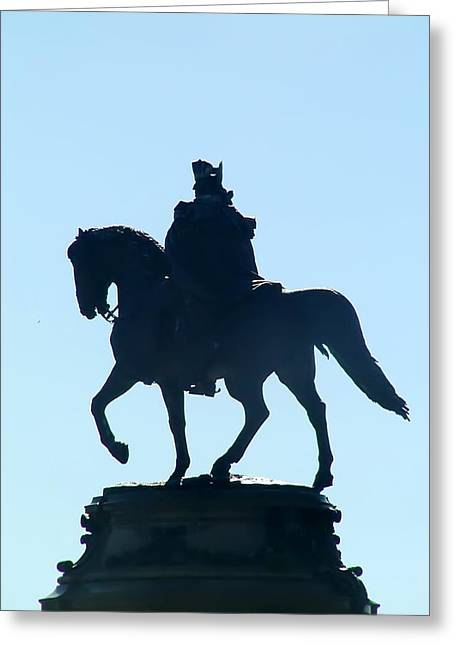 Eakins Oval Greeting Cards - George Washington Monument Philadelphia Greeting Card by Bill Cannon