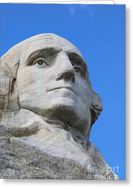 Gutzon Greeting Cards - George Washington Mount Rushmore   8804 Greeting Card by Jack Schultz