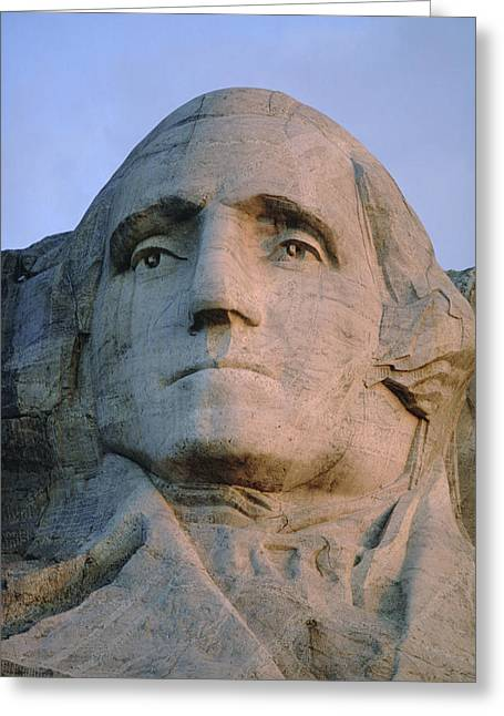 Gutzon Greeting Cards - George Washingtons Face On Mount Greeting Card by Joel Sartore