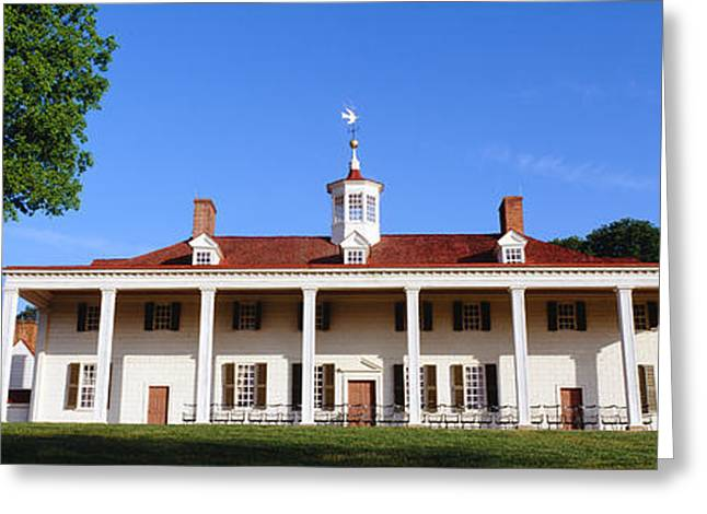 George Washingtons Home At Mount Greeting Card by Panoramic Images