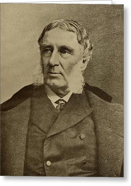 Reformer Greeting Cards - George William Curtis,1824-92. American Greeting Card by Ken Welsh