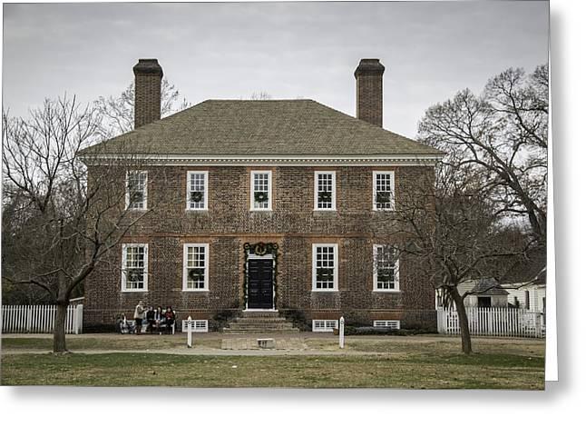 1752 Greeting Cards - George Wythe House Williamsburg 2014 Greeting Card by Teresa Mucha