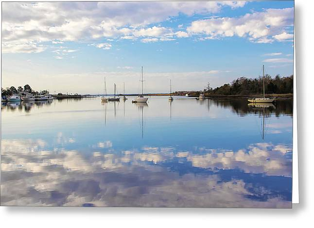 Sailboat Images Greeting Cards - Georgetown Harbor Greeting Card by Pat and Cathie Walsh
