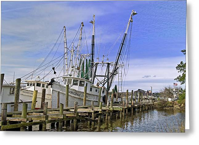 Mike Covington Greeting Cards - Georgetown Shrimper Greeting Card by Mike Covington