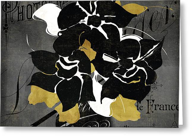 Abstract Vase Flower Print Greeting Cards - Georgette I Greeting Card by Mindy Sommers