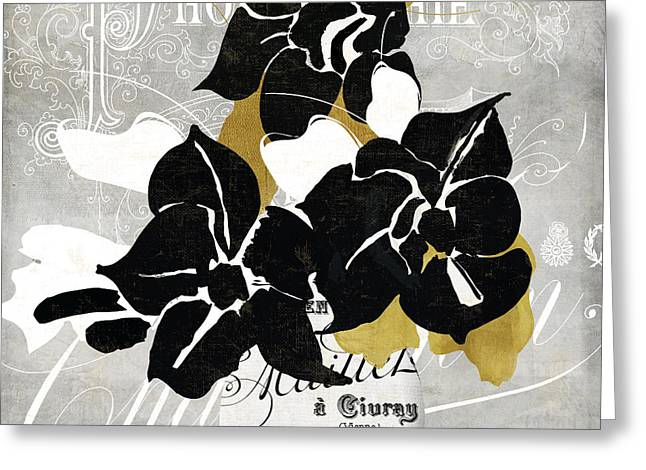 Abstract Vase Flower Print Greeting Cards - Georgette II Greeting Card by Mindy Sommers